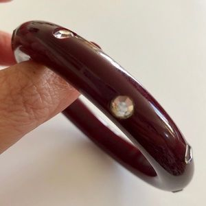 vintage bakelite bangle with rhinestones